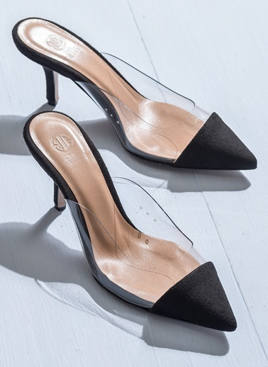 Elle Şeffaf Ayakkabı Siyah
